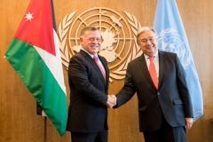 جلالة-الملك-عبدالله-الثاني-يلتقي-السكرتير-العام-للأمم-المتحدة،-أنطونيو-غوتيرس