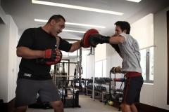 سمو-الأمير-الحسين-بن-عبدالله-الثاني،-ولي-العهد،-خلال-تدريبات-رياضة-الملاكمة.