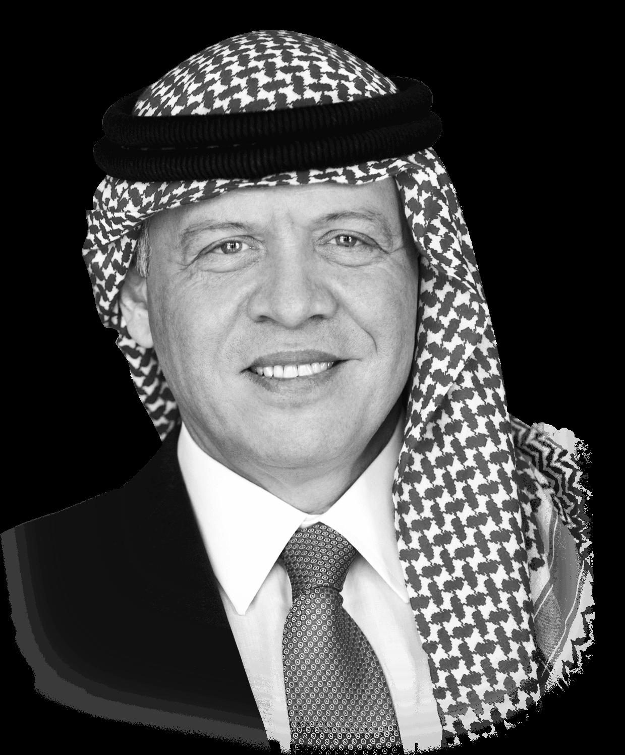 صاحب الجلالة الملك <br> عبدالله الثاني ابن الحسين المعظّم