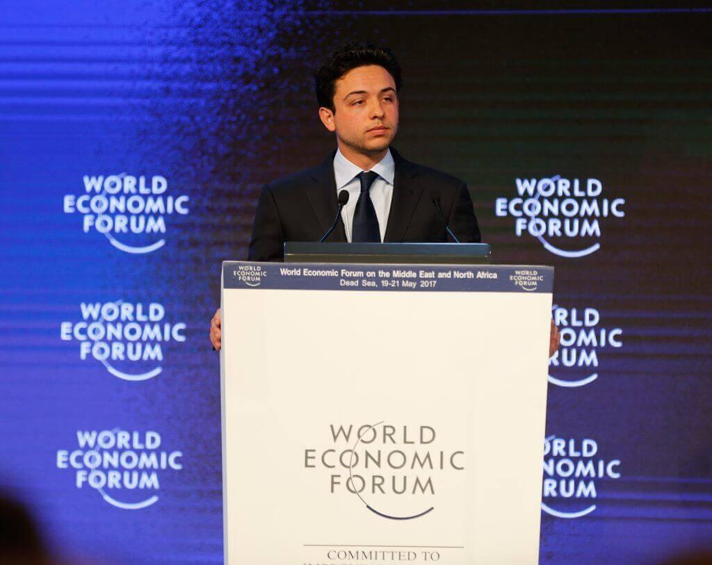 الامير الحسين بن عبد الله الثاني في افتتاحية المنتدى الاقتصادي العالمي